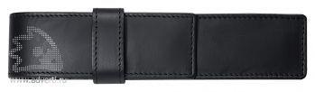 Кожаный футляр с вставляющимся язычком, черный