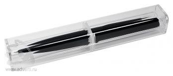 Футляр прозрачный, на 1 предмет, пример с черной ручкой