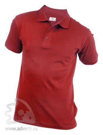 Рубашка поло «Eurotex», унисекс, бордовая