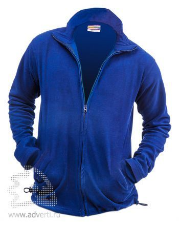 Толстовка «Eurotex-F» с молнией, унисекс, синяя