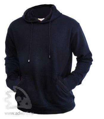 Толстовка «Eurotex-K» с капюшоном, унисекс, темно-синяя