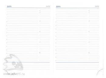 Внутренний блок датированного синего еженедельника А4 (210х270 мм)