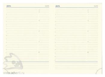 Внутренний блок недатированного ежедневника А6 (95х144 мм), А5 (142х204 мм)