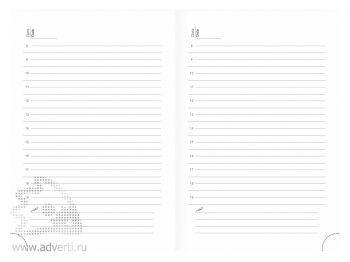 Внутренний блок недатированного ежедневника А5, белая бумага
