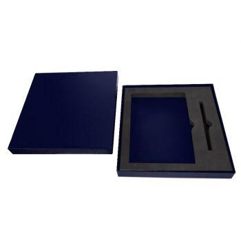 Коробка под ежедневник 145х205 мм и ручку, синяя