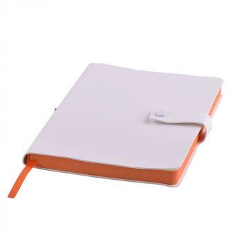 Ежедневник «STELLAR», белый, оранжевый
