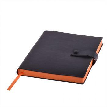 Ежедневник «STELLAR», черный, оранжевый