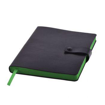 Ежедневник «STELLAR», черный, зеленый