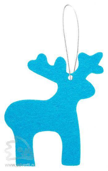 Игрушка новогодняя «Олень» из фетра, голубая