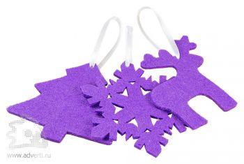 Набор елочных игрушек из фетра «Новый Год!»