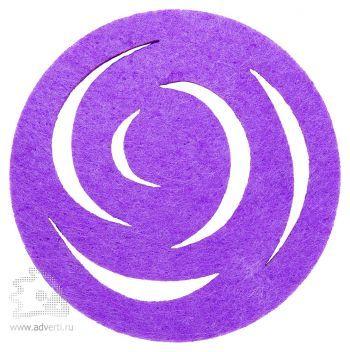 Подставка из фетра «Гранж», круглая, фиолетовая
