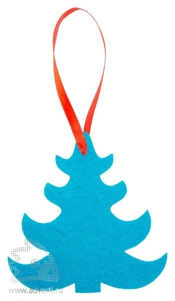 Игрушка новогодняя «Ёлочка 1» из фетра, голубая
