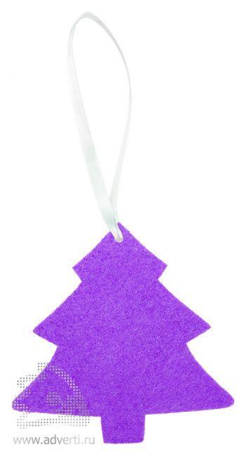 Игрушка новогодняя «Ёлочка 2» из фетра, фиолетовая
