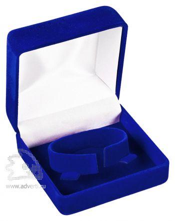 Бархатная коробка с держателем, синяя