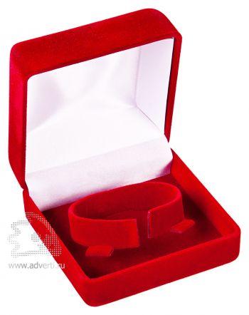 Бархатная коробка с держателем, красная