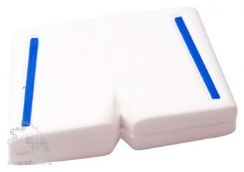 Флеш-память «Форма», белые с синим трусы