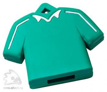 Флеш-память «Форма», зеленая с белым майка