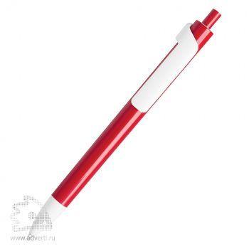 Шариковая ручка «Forte» с белым клипом Lecce Pen, бордовая