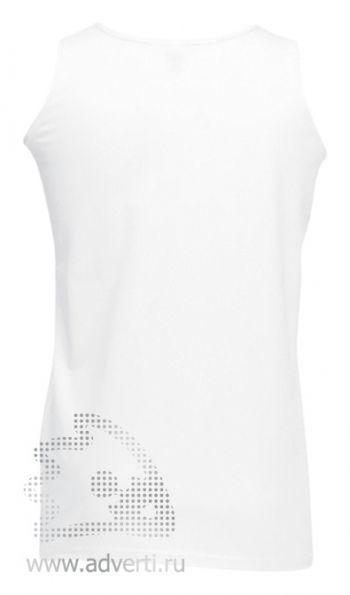 Майка спортивная «Athletic Vest», мужская, белая, вид спины