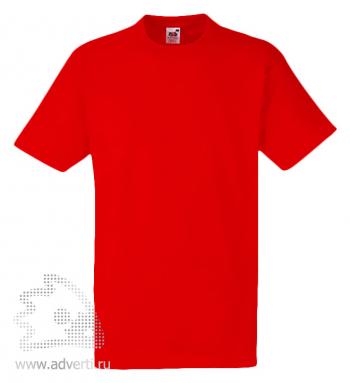 Футболка «Heavy Cotton T», мужская, красная