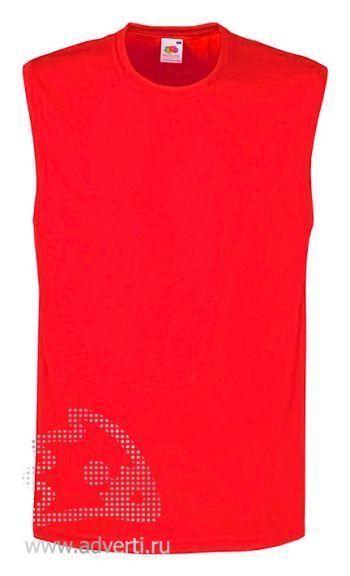 Футболка без рукавов «TANK TOP», мужская, красная