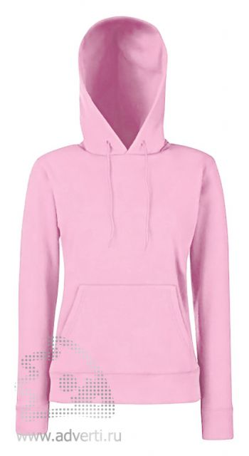 Толстовка «Lady-Fit Hooded Sweat», женские, светло-розовая
