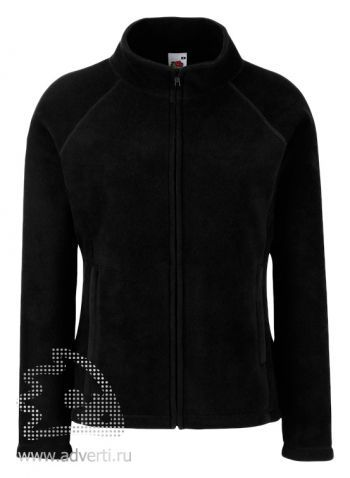 Куртка «Lady-fit Full Zip Fleece», женская, Fruit of the Loom, США, черная