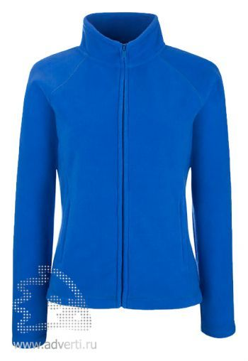 Куртка «Lady-fit Full Zip Fleece», женская, Fruit of the Loom, США, синяя