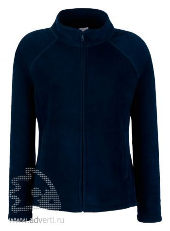 Куртка «Lady-fit Full Zip Fleece», женская, Fruit of the Loom, США, темно-синяя