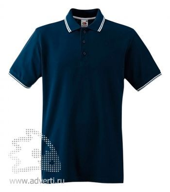 Рубашка поло «Tipped Polo», темно-синяя