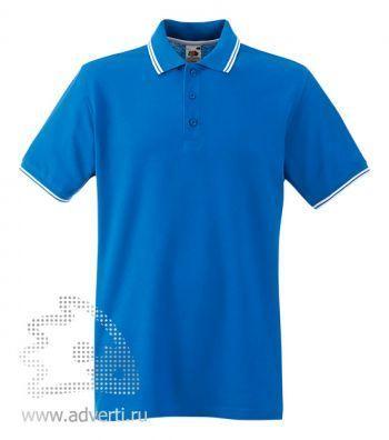 Рубашка поло «Tipped Polo», ярко-синяя
