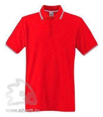 Рубашка поло «Tipped Polo», красная