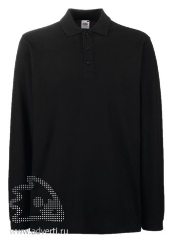 Рубашка поло «Premium Long Sleeve», мужская, черная