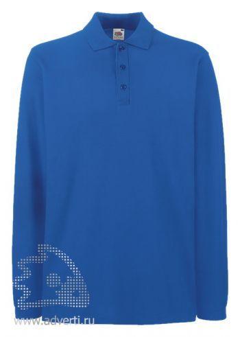 Рубашка поло «Premium Long Sleeve», мужская, синяя
