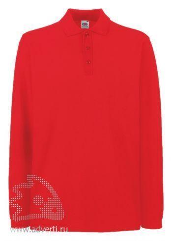 Рубашка поло «Premium Long Sleeve», мужская, красная