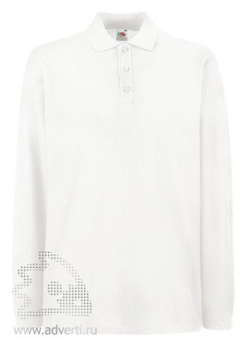Рубашка поло «Premium Long Sleeve», мужская, белая