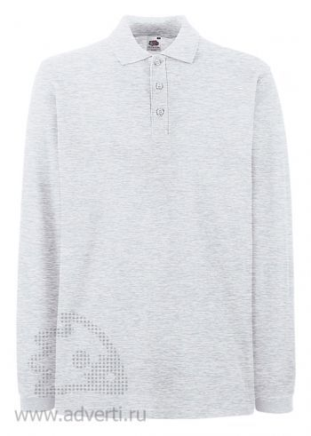 Рубашка поло «Premium Long Sleeve», мужская, серая