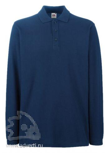 Рубашка поло «Premium Long Sleeve», мужская, темно-синяя