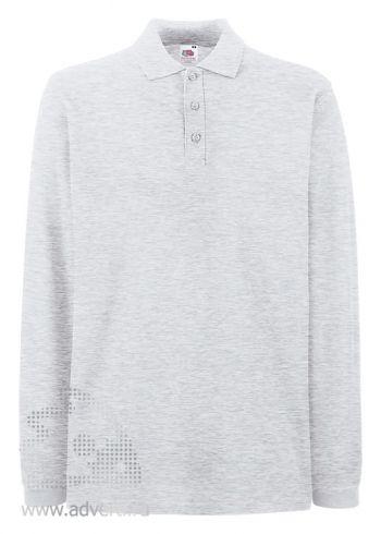 Рубашка поло «Premium Long Sleeve Polo», пепельная