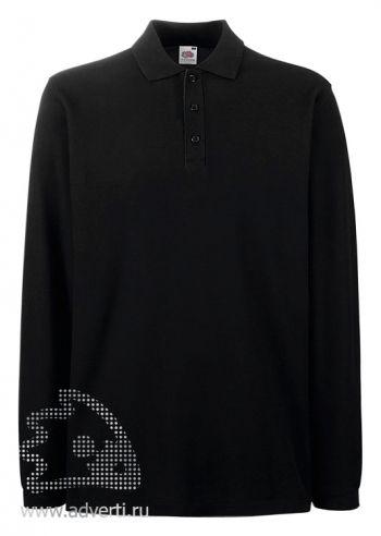 Рубашка поло «Premium Long Sleeve Polo», черная
