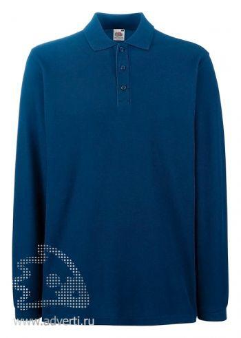 Рубашка поло «Premium Long Sleeve Polo», темно-синяя