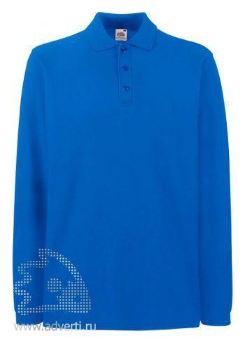Рубашка поло «Premium Long Sleeve Polo», ярко-синяя
