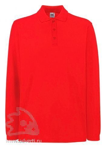 Рубашка поло «Premium Long Sleeve Polo», красная
