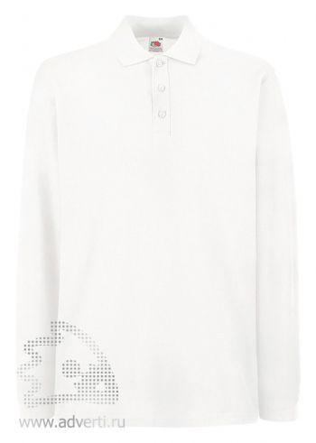 Рубашка поло «Premium Long Sleeve Polo», белая
