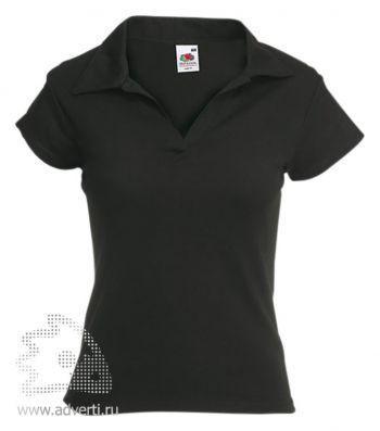 Рубашка поло «Lady-Fit Rib Polo», женская, черная