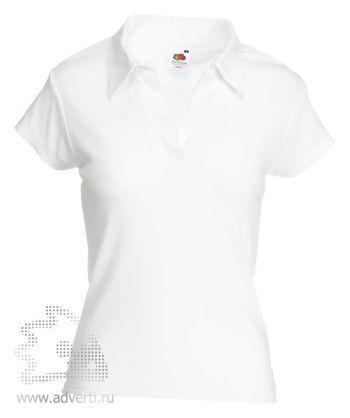 Рубашка поло «Lady-Fit Rib Polo», женская, белая