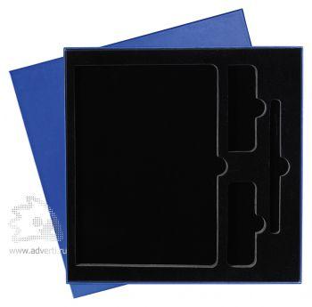 Подарочная упаковка с ложементом на 3 предмета, синяя