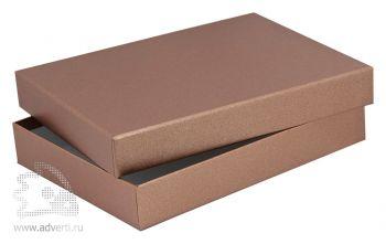 Подарочная упаковка для ежедневника А5, цвет бронза
