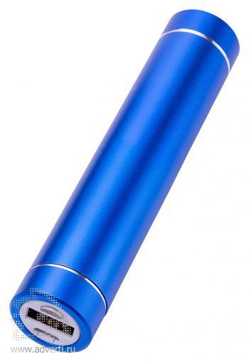 Универсальное зарядное устройство «Power bank» с фонариком, синее
