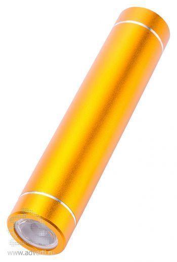 Универсальное зарядное устройство «Power bank» с фонариком, желтое